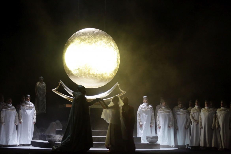 una scena dell'Aida di Peter Stein alla Scala