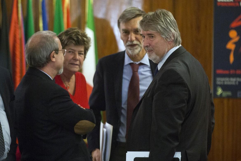 Carmelo Barbagallo, Susanna Camusso, Graziano Delrio e Giuliano Poletti