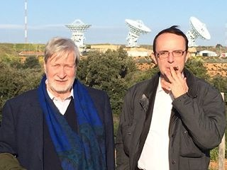 Gianni Vattimo e Massimo Zucchetti al MUOS di Niscemi, aprile 2014