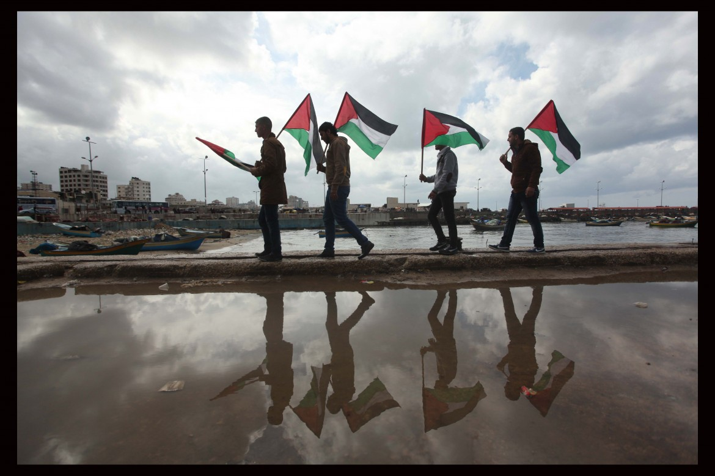Protesta a Gaza 18 febbraio 2015