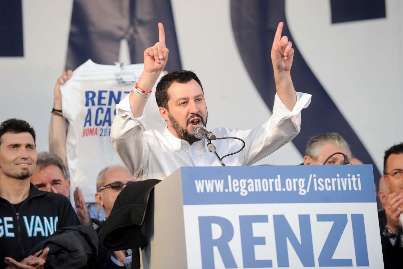 Salvini a piazza del Popolo