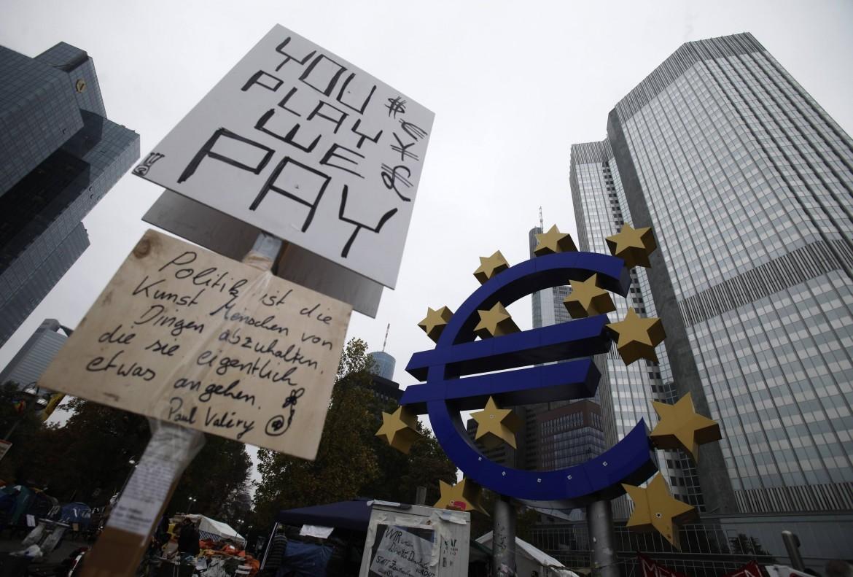 Manifestazione contro l'austerità a Francoforte