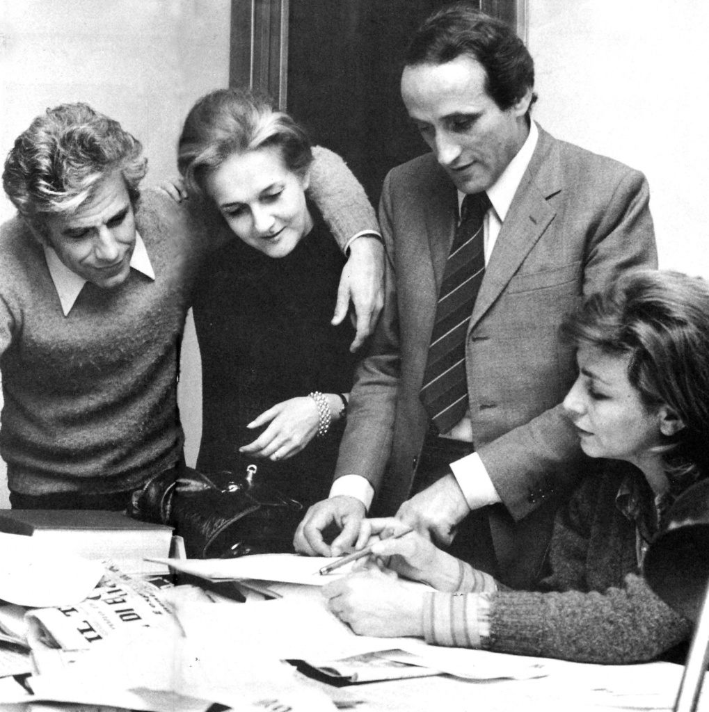 Lucio Magri, Rossana Rossanda, Eliseo Milani e Luciana Castellina