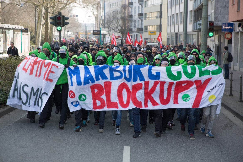 Manifestazione a Francoforte