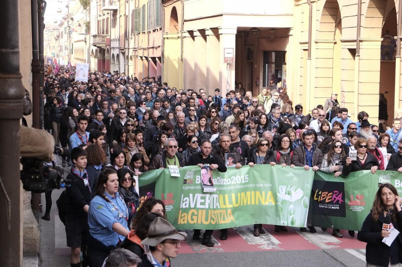 Il corteo di Libera a Bologna