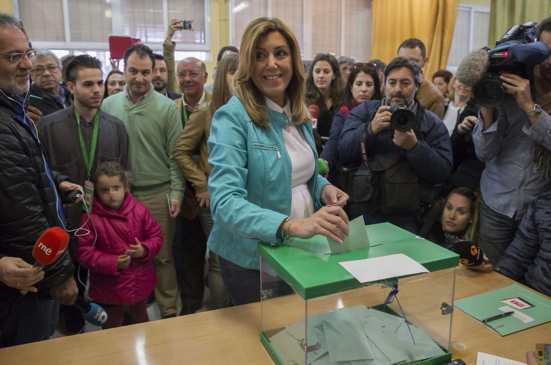 Susana Diaz, la candidata socialista alle elezioni amministrative andaluse
