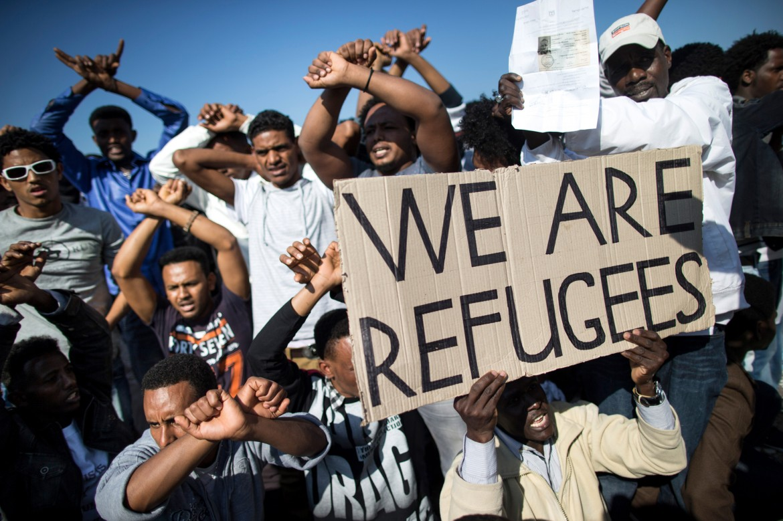 Protesta migranti africani in Israele