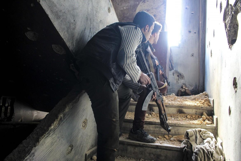 Miliziani delle opposizioni al governo di Damasco
