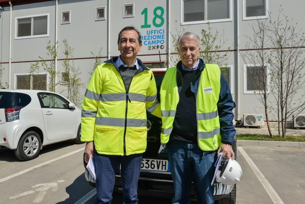 L'ex ad Expo Giuseppe Sala e il sindaco di Milano Giuliano Pisapia