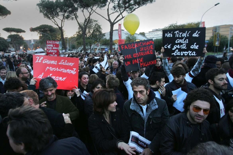 L'occupazione del Red carpet della Festa del cinema di Roma nel 2010