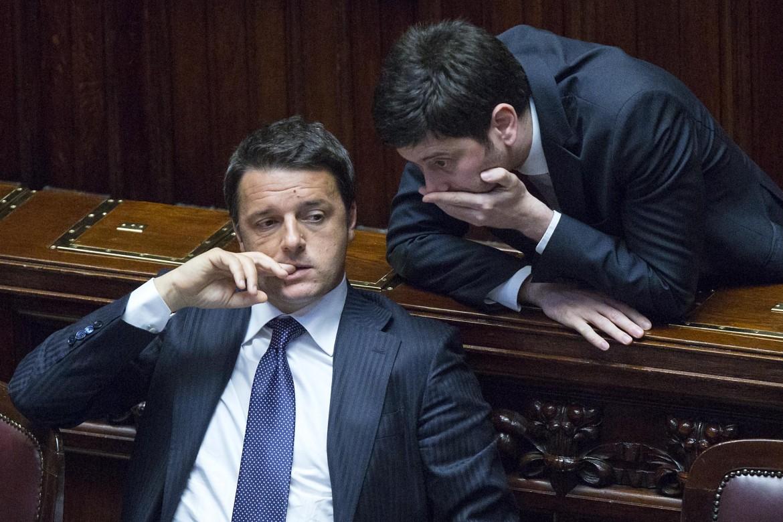 Matteo Renzi con Roberto Speranza