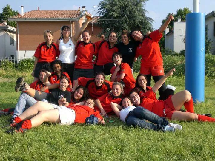 La squadra femminile dell'All Reds Rugby