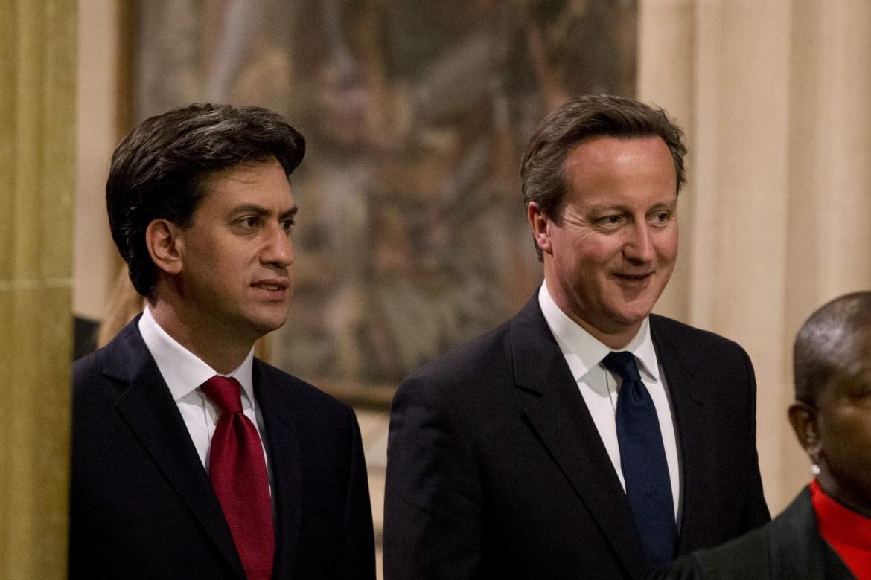 Il laburista Miliband e il conservatore Cameron