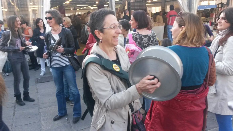 Stefania Ghedini, insegnante, al sit-in di venerdì scorso contro il ddl