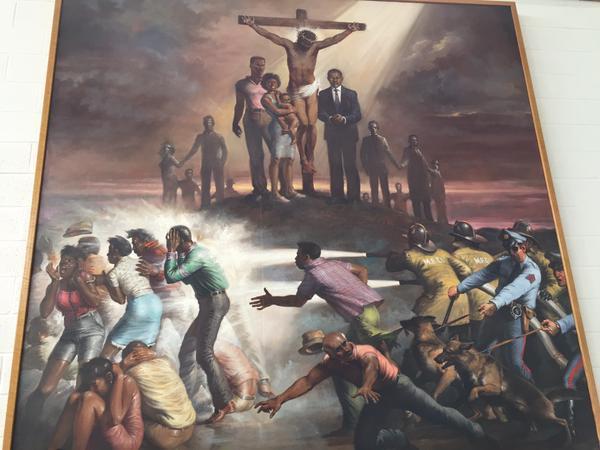 Passione secondo il Baltimore PD - l'affresco nella New Bethel Baptist Church