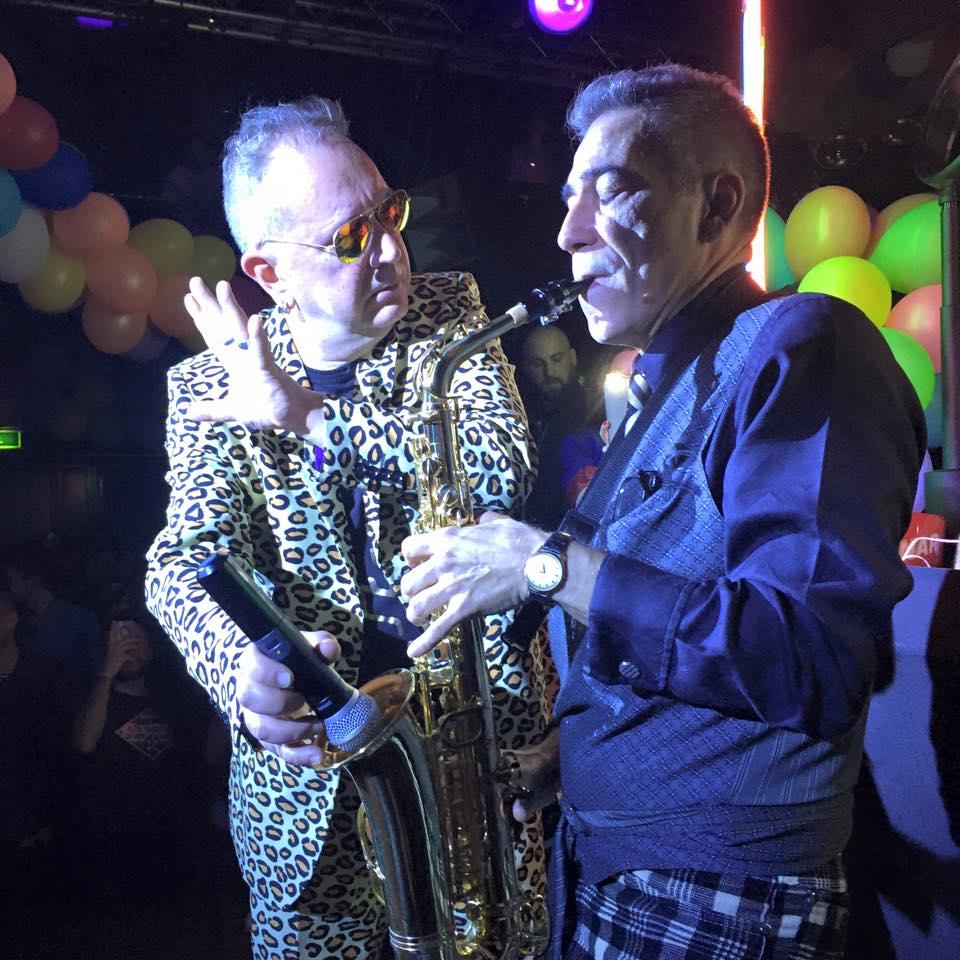 Righeria, live. Foto Club Haus '80, Milano.