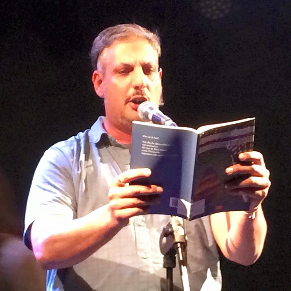 Sebastiano Adernò, reading poetico all'Hiroshima Mon Ampur, Torino.