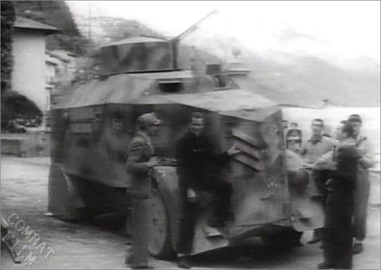 L'autoblindo di Pavolini. Dongo, aprile 1945.