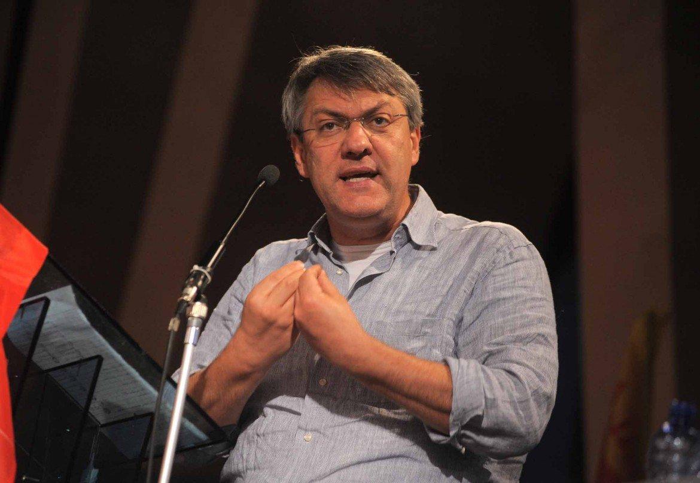 Il segretario della Fiom Maurizio Landini