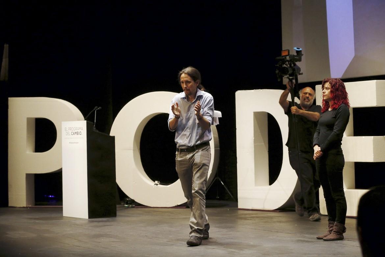 Il leader di Podemos, Pablo Iglesias