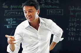 Matteo Renzi nello spot della lavagna