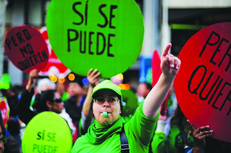 Una protesta per la casa a Barcellona