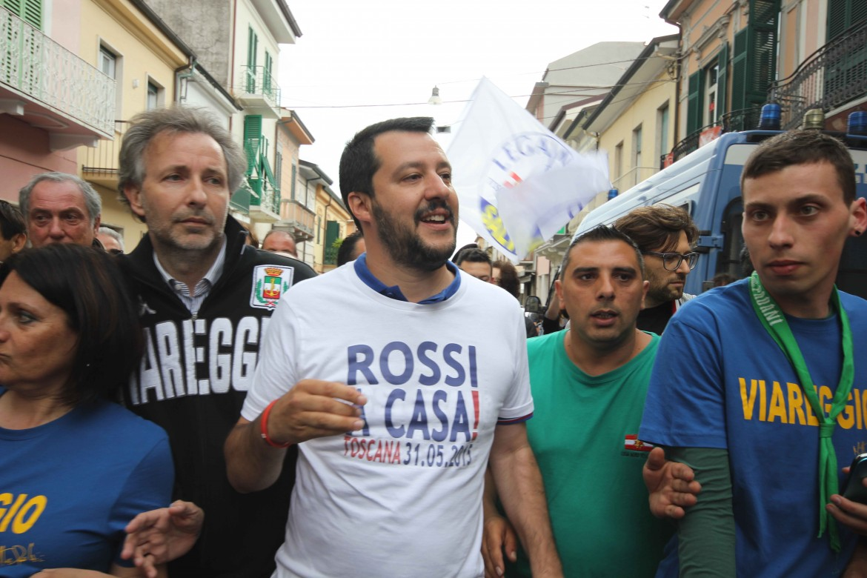 Matteo Salvini ieri in Toscana