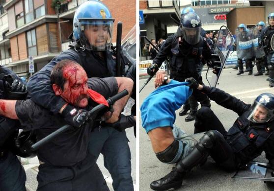 Luchino (maglietta azzurra) e suo padre Silvano. http://iltirreno.gelocal.it/massa/cronaca/2015/05/17/news/il-padre-insanguinato-e-il-figlio-in-suo-soccorso-l-ordinario-sabato-di-follia-a-massa-1.11438887