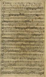 """Partitura di un'intera canzone del musical """"The Man of La Mancha"""""""
