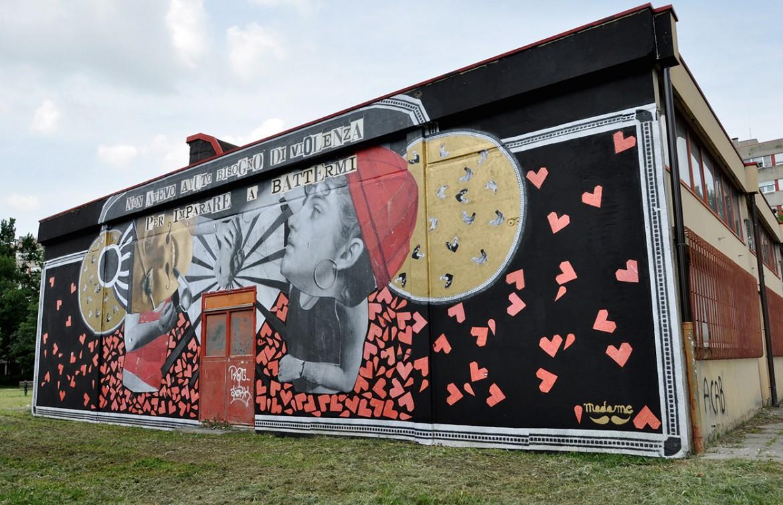 Il muro realizzato da Madame Moustache