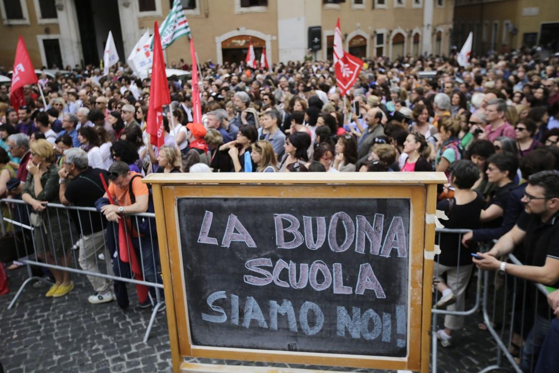 La protesta a Montecitorio