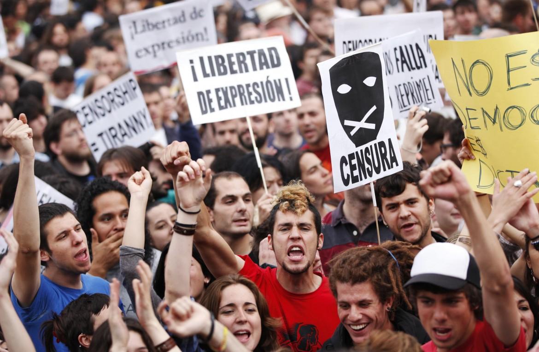 Proteste in Spagna nel maggio del 2011