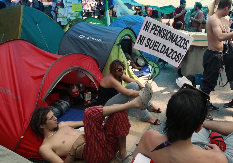 Proteste a Madrid nel maggio 2011