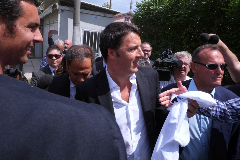 Matteo Renzi ieri a La Spezia