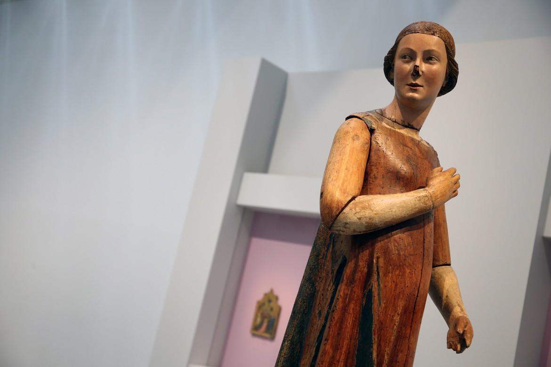 Un'opera esposta alla mostra «Gold and Ivory»