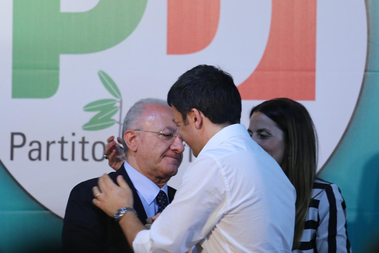 Vincenzo De Luca con Matteo Renzi