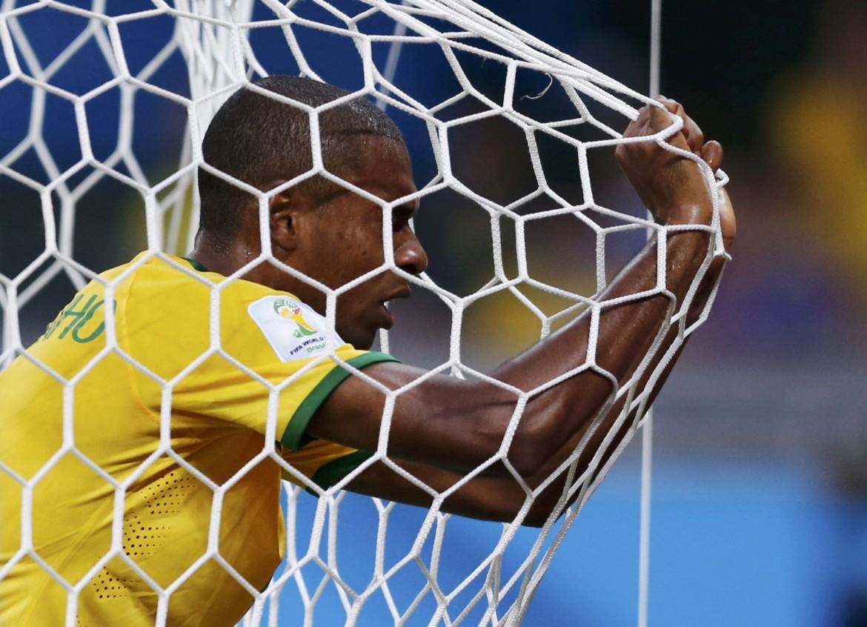 Il brasiliano Fernandinho durante la finale dei Mondiali 2014