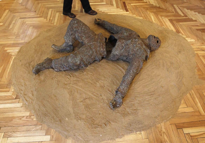 «Angel in Desert», una scultura dell'artista Markus Eriksen