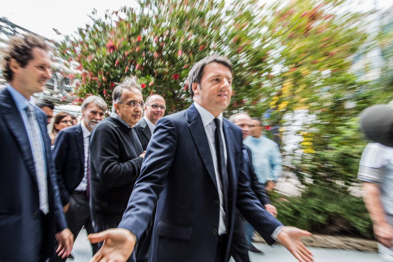 Renzi con Marchionne ieri a Melfi