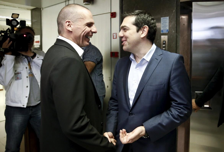 Varoufakis e Tsipras