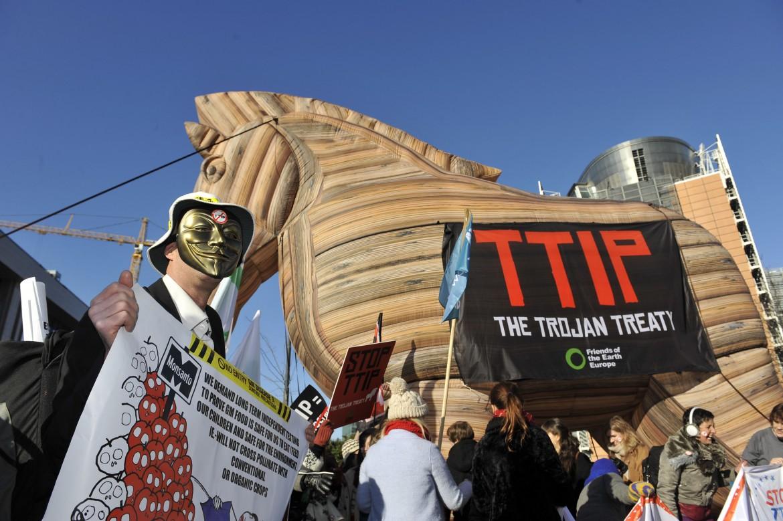 Protesta contro il Ttip a Bruxelles