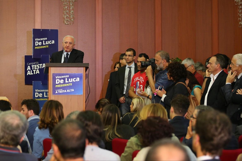 La conferenza stampa di Vincenzo De Luca