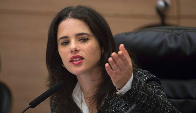 La ministra della giustizia israeliana Ayalet Shaked