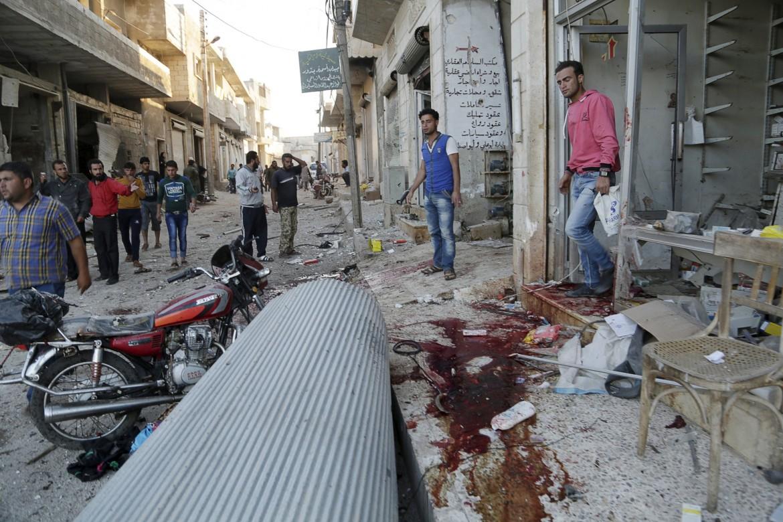 Gli effetti di un attacco in Siria