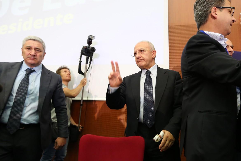 Il neo governatore campano, Vincenzo De Luca