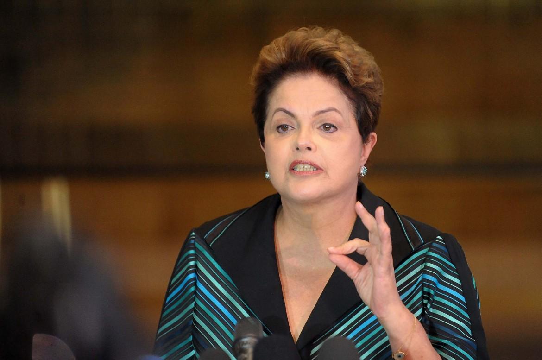 La presidente del Brasile Dilma Rousseff