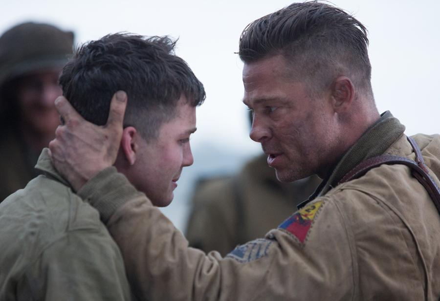 Brad Pitt in una scena del film