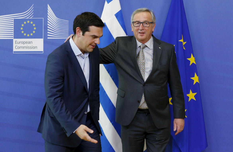 Tsipras e Juncker a Bruxelles