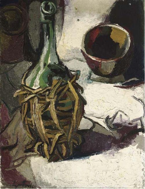Renato Guttuso, Fiasco e ciotola, 1958