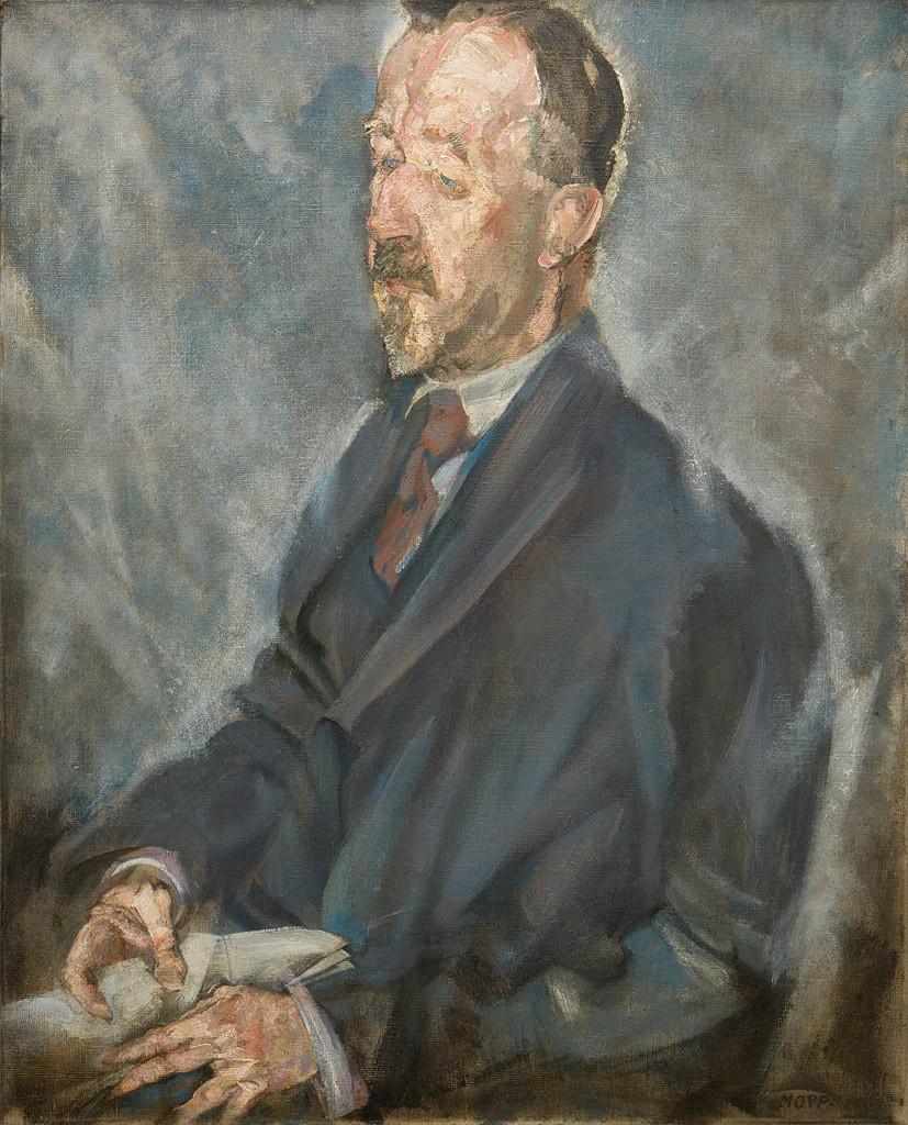 Max Oppenheimer, «Ritratto di Heinrich Mann», circa 1912